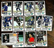 1981-82 O-Pee-Chee  BUFFALO SABRES 13 card team set/lot