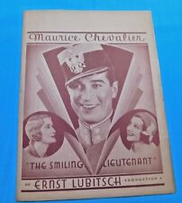 "VINTAGE 1931 MOVIE PROGRAM 1931 ""THE SMILING LIEUTENANT"" MAURICE CHEVALIER"