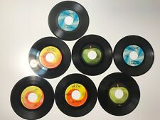 Vintage Beatles & Rolling Stones 45 Vinyl Record Lot - 7 Total - All Hits!
