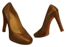NEW Michael Kors  Milan Bronze Leather Round Toe Platform Classic Pumps 8.5