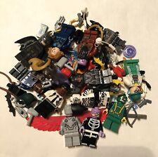 Lego Dc/Marvel Lot 12 Minifigures & 2.5+ Ounces of Accessories 90+ Pieces