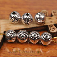 100pcs Charm Eye Tibetan silver Bead Spacer DIY Jewery Making Fit Bracelet A7267