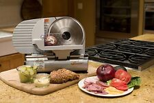 Meat Food Slicer Electric Cutter Kitchen Appliance Deli Thin Adjustable Quiet