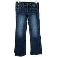 American Eagle Womens Favorite Boyfriend Jeans Blue Dark Wash Denim Sz 6 WJ3
