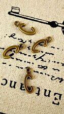 Alphabet letter C charm bronze vintage style jewellery supplies C32