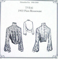Truly Victorian Edwardian Sewing Pattern ladies 1903 blouse TVE41