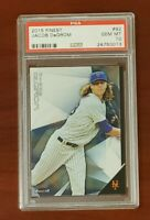 2015 Topps Finest #92 (2nd year card) Jacob deGrom ROY Mets TOUGH PSA 10 GEM MT