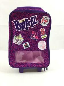 "Bratz Rolling Suitcase Travel Bag Girls Luggage 14x10"" Handle Extends EUC 1188"