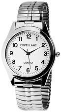 Excellanc Herrenuhr Weiß Silber Analog Metall Zugband Armbanduhr X270022000001