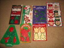 Vintage Lot of 29 Christmas Cookie Cutters Plastic Nip