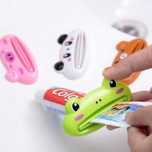 Toothpaste Squeezer Cartoon Dispenser Rolling Holder Cute Bathroom Accessories