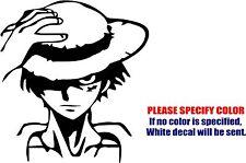 "Vinyl Decal Sticker - One Piece Monkey D. Luffy Stare Car Car Truck Bumper 9"""