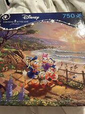 Thomas Kinkade Disney Jigsaw Puzzle Donald and Daisy A Duck Day Afternoon NIB