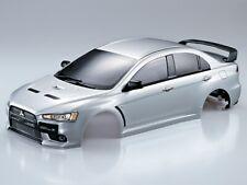 1/10 RC Car BODY Shell MITSUBISHI EVOLUTION Lancer #48134 *FINISHED* -SILVER