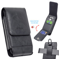 For Motorola Moto z4 Leather Case Pouch Hip Holster Fits with Protective Cover