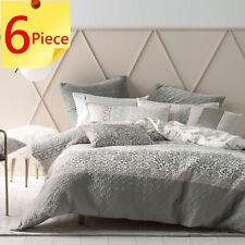 Linen House Faith Duvet Doona Quilt Cover Set | 6 Piece Pack | King