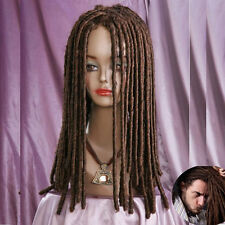 Dreadlocks African brown Wig Long Curls Rolls Costume Theatre Party Cosplay Wig