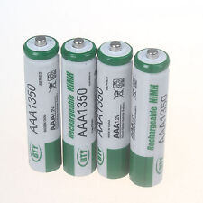 LOT 4 Piles 1.2 V AAA 1350mAh NI-MH rechargeables batteries
