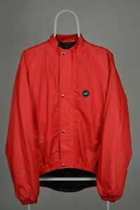 CASTELLI Mens XL Gore-Tex Windstopper CYCLING TOP JACKET Red