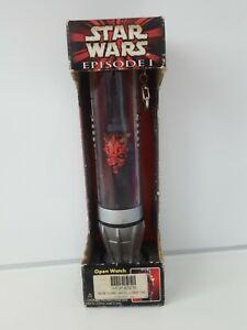 Star Wars  Darth Maul collectors Watch & Lightsaber Case 1999