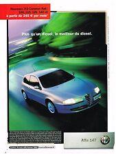 Publicité Advertising 2003 Alfa Romeo Alfa 147 JTD Common Rail