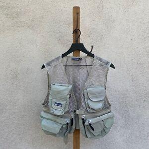 Vintage Patagonia Grey Mesh Utility Fishing Vest Size XS