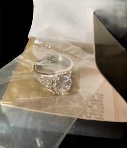 Sz 9 Vintage Avon Sterling Silver Hers Wedding Band
