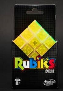 Hasbro Gaming Rubik's Cube Neon 3x3x3 Puzzle + Stand