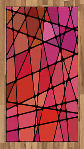 Magenta Area Rug Decorative Flat Woven Accent Rug Home Decor 2 Sizes