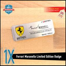 ENZO Ferrari Firmado Edición Especial Aluminio Cepillado Emblem Badge F1 355 458