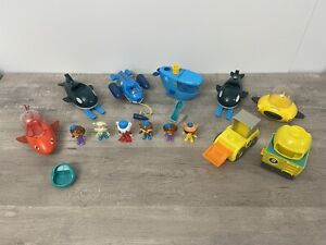 Octonauts Octo-Crew Lot Action Figure Kid Childrens Toy Gift Whale Vehicles
