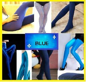 !!GO BLUE!! Blue Pantyhose Random Choise surprise patern one size HOT LOOK
