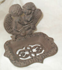 Iron Cupid ANGELS SOAP DISH or BUSINESS CARD HOLDER