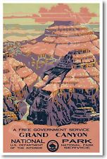 Grand Canyon - United States National Park Vintage NEW Wildlife Nature POSTER