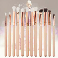12PCS Pro Makeup Brushes Set Eyeshadow Eyebrow Eyeliner Foundation Lip Brush New
