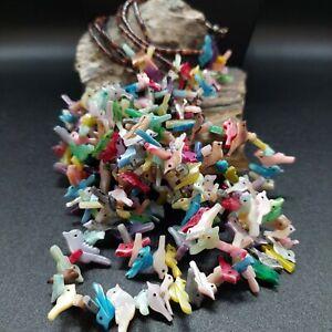 Southwestern Multi Stone Shell Heishi Fetish Animals Necklace Native Lot