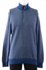 Ermenegildo Zegna navy blue M 50 cashmere blend turtle neck sweater NEW $995