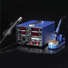 853D 2A SMD Rework Solder Station 3in1 Digital Electronic Hot Air Heat Gun 220V