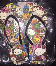 Last 1 Tokidoki Hello Kitty Sanrio Limited Edition Beach Flip Flop Sandal 9-10 L