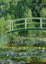 Lámina-Monet nenúfares y japonés Puente (imagen Cartel Pintura)