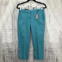 J. Crew Size 2 2P Petite Blue City Fit Skimmer Pants Crop Chino Pants NWT B39