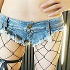 Super Short Women Girl Mini Jeans Shorts Pants Trousers Denim Low Waist Rough Eg