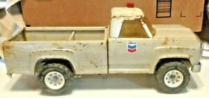 Vintage Tonka Dodge Chevron gasoline Work Emergency Truck, Pressed Steel Pick Up
