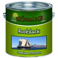 Grünwalder premium Yachtlack Weiß Bootsfarbe 1L 2,5L 5L 10L 20 L RAL 9010 Weiss