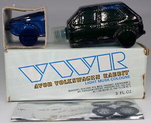 Vintage AVON VWR Mini Volkswagen Rabbit Light Musk Cologne 3oz Full Bottle NOS