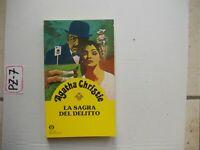 LIBRO LA SAGRA DEL DELITTO  AGATHA CHRISTIE  GIALLI MONDADORI  N 47 BUONO+