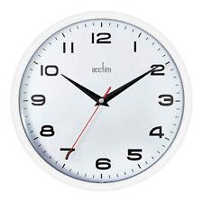 Acctim 92/ 301 Aylesbury Wall Quartz Office Kitchen Clock, White New Model