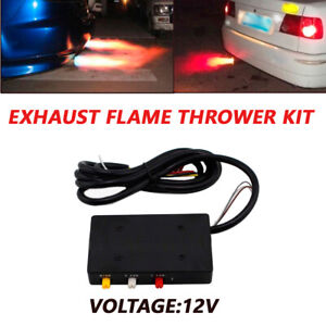Car 12V Exhaust Flame Thrower Kit Fire Burner Afterburner Super Spitfire Dragon