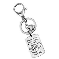 Trendy Keychain Printing Tag Keyring Fashion Chic Pendant Charm Key Holder JH