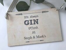 Personalised Gin Sign Plaque Home Gift Decor P240
